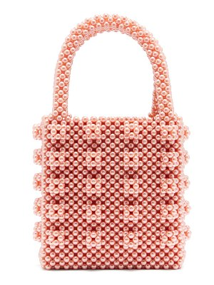 SHRIMPS Antonia Faux Pearl Embellished Bag