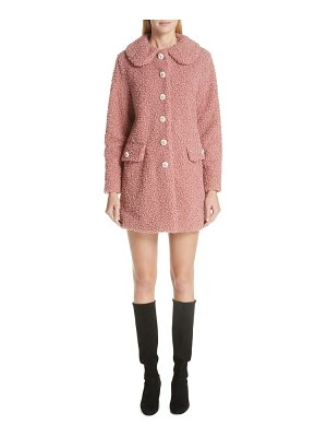 SHRIMPS bridget peter pan collar faux fur coat
