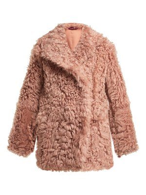 Sies Marjan pippa double breasted shearling coat