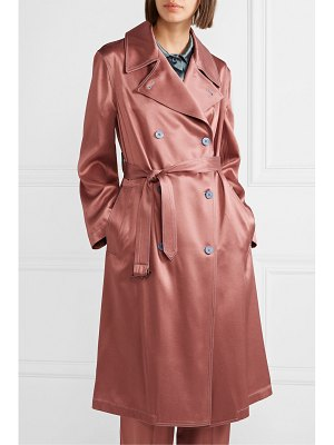 Sies Marjan sigourney satin-twill trench coat