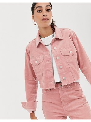 Signature 8 cropped trucker jacket-pink