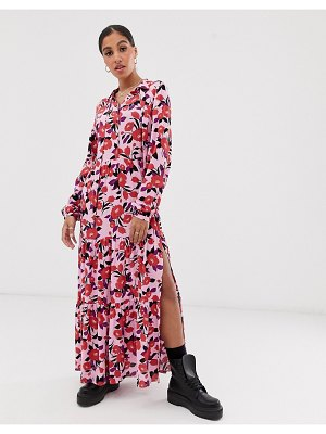 Signature 8 rose print midi dress