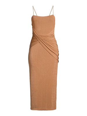 Significant Other evelyn twist-front midi dress