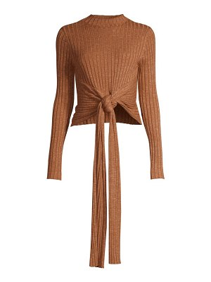 Significant Other goldie tie-front knit sweater