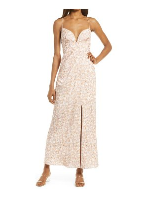 Significant Other maria floral linen blend dress