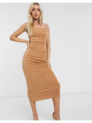 Significant Other neptune slinky maxi dress in sand-brown