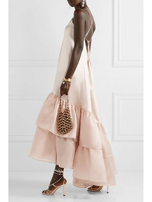 Silvia Tcherassi angelique tiered silk-blend satin and organza maxi dress