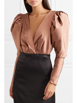 Silvia Tcherassi laura satin-twill and stretch-jersey bodysuit