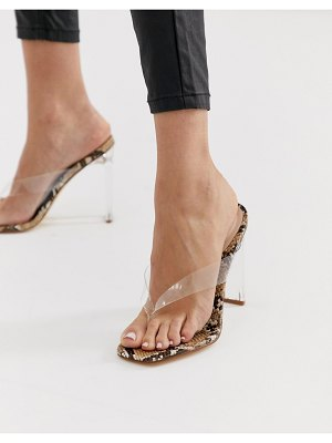 SIMMI Shoes simmi london jemima clear thong detail square toe heeled sandals