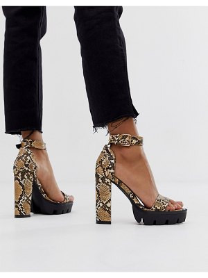 SIMMI Shoes simmi london jordan snake chunky heeled sandals