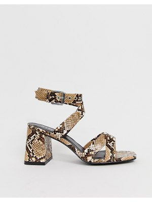 SIMMI Shoes simmi london kimona snake mid heeled sandals
