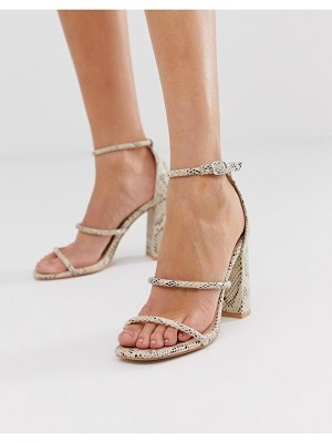 SIMMI Shoes simmi london myra snake block heeled sandals