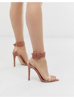 SIMMI Shoes simmi london nova blush croc clear detail heeled sandals