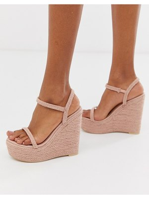 SIMMI Shoes simmi london pink drench espadrille wedges