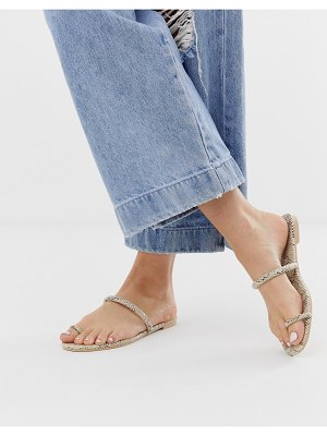 SIMMI Shoes simmi london sahara snake toe loop sandals
