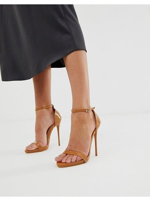 SIMMI Shoes simmi london sheena caramel barely there heeled sandals