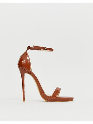 SIMMI Shoes simmi london sheena espresso barely there heeled sandals