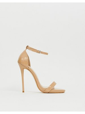 SIMMI Shoes simmi london sheena latte barely there heeled sandals