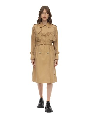 Simone Rocha Bustier cotton blend twill trench coat