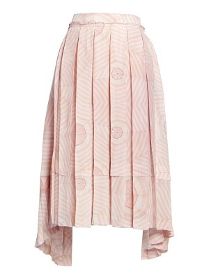 Simone Rocha deconstructed pleated print silk skirt