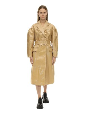 Simone Rocha Double breast laminate felt bustier coat
