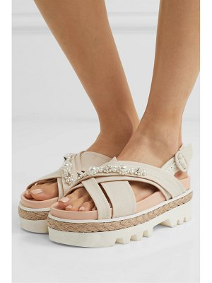 Simone Rocha embellished canvas and jute platform sandals