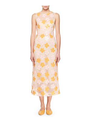SIMONE ROCHA Floral-Sequined Midi Dress