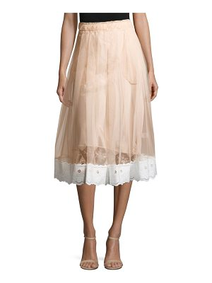 SIMONE ROCHA Lace Trim Sheer Tulle Skirt