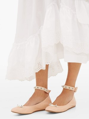 Simone Rocha pearl-embellished leather flats