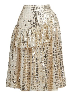 Simone Rocha sequined drop-waist skirt