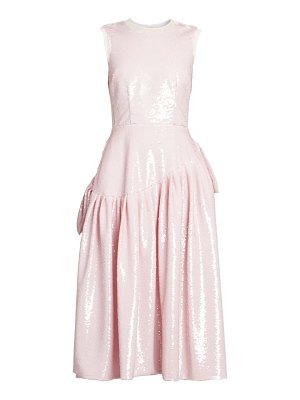 Simone Rocha sequined ruffle-trim midi dress