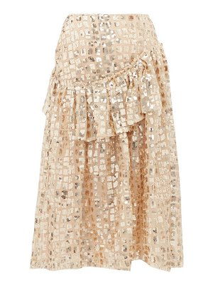 Simone Rocha sequinned ruffled tulle midi skirt