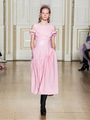 Simone Rocha sequinned tulle ruffled gathered dress