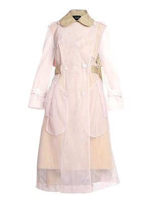 Simone Rocha sheer tulle trench coat