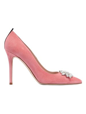 SJP by Sarah Jessica Parker 100mm tavi embellished suede pumps