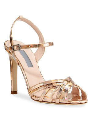 SJP by Sarah Jessica Parker Cadence Hologram High-Heel Leather Sandals