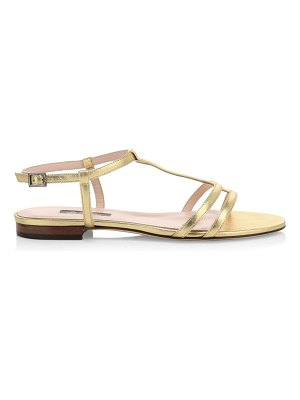 SJP by Sarah Jessica Parker honoree flat metallic leather sandals