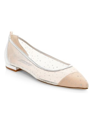 SJP by Sarah Jessica Parker story embellished mesh point toe flats