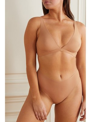 SKIMS naked everyday plunge bra - honey