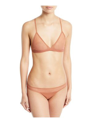 SKIN Cotton Tulle Adjustable Triangle Soft Bra