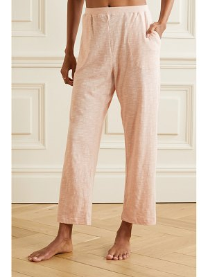 SKIN fabianne cropped slub cotton-jersey pants