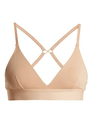 SKIN Hadlee soft-cup stretch-cotton bra