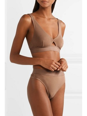 SKIN harley cutout stretch organic pima cotton-jersey soft-cup bra