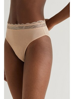SKIN net sustain the comfort lace-trimmed stretch organic pima cotton-jersey briefs