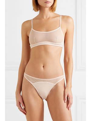 SKIN oliana stretch organic pima cotton-jersey and tulle bra