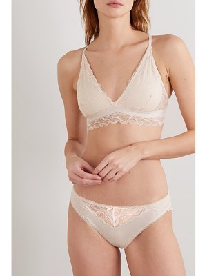 SKIN sevilla stretch-organic pima cotton-jersey and lace briefs