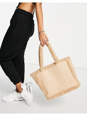 Skinnydip borg trimmed tote bag in beige-neutral