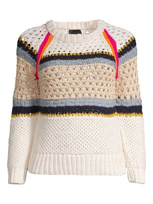 Smythe crochet knit crewneck sweater