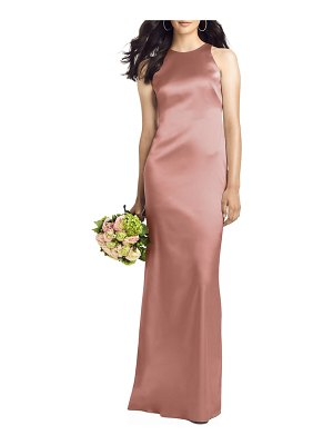 Social Bridesmaids twist back satin trumpet gown