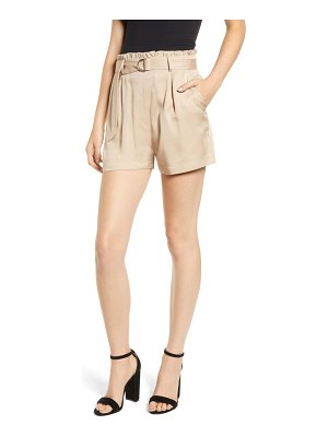 Socialite d-ring belted shorts